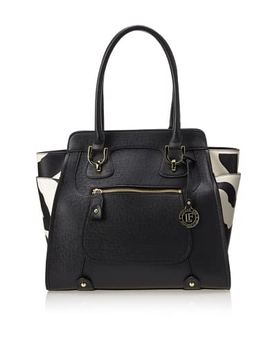 London Fog Women's Daphne Shoulder Bag  [Black]