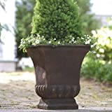 "Gardman 8225 Large Rustic Metal Urn Planter, 15.75"" Long x 15.75"" Wide x 18"" High"