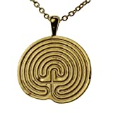 Minoan Labyrinth Gold-dipped Pendant Necklace on 18