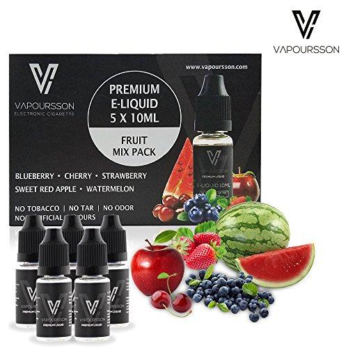 vapoursson-5-x-10-ml-e-liquidos-mezcla-de-frutas-manzana-blueberry-cereza-fresa-sandia-formula-para-