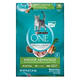 Purina ONE Hairball, Weight Control, Indoor, Natural Dry Cat Food; Indoor Advantage - 16 lb. Bag