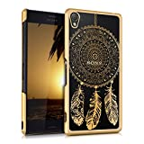 kwmobile Elegant and light weight Crystal Case Design dream catcher for Sony Xperia Z3 in gold transparent