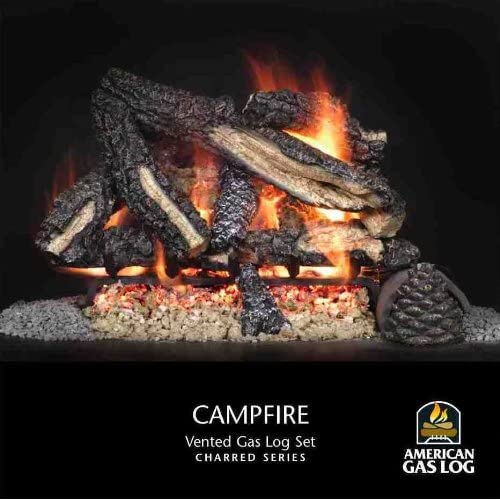 American Gas Logs Best Fire Campfire Series Vented With Burner 24 Propane Agl 24