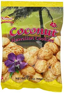 Diamond Bakery Coconut Cookies, 1.1 Ounce (Pack of 100)