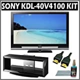 Sony Bravia V-Series KDL-40V4100 40-inch 1080p LCD HDTV + Deluxe Accessory Bundle w/ 3 Year Warranty