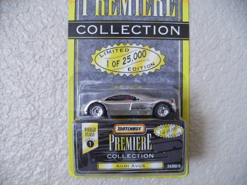 1995 - Tyco - Matchbox Premiere Collection - World Class Series 1 - Audi Avus - Silver/ Chrome - 1 of 25,000 - 1:64 Scale Die Cast - New - Out of Production - Rare - Limited Edition - Collectible - 1