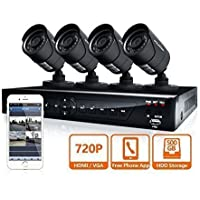 LaView LV-KDT0404FTB5 Analog DVR 4-Channel TVI Security System with 4x HD 720P Camera