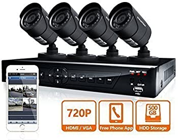 LaView 720p HD 4-Ch. Security System w/4x HD 720P Camera