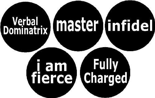 Set of 5 Funny Gag Humor Geek Rude 1.25″ Magnets – Set #20