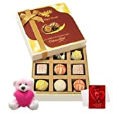 Chocholik Luxury Chocolates - Perfect Collection Of White Chocolates With Teddy And Love Card