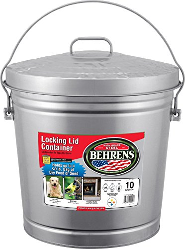 Behrens 6110 10-Gallon Locking Lid Can (10 Gallon Galvanized Trash Can compare prices)