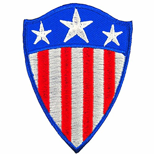 Shield USA Flag Captain America Superhero Embroidered Iron on Patch