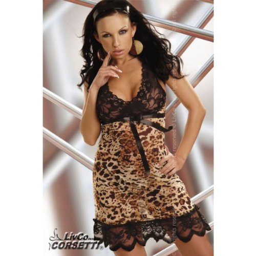 Athena-nuisette-lopard-en-dentelle-noire