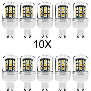 ELINKUME LED Corn light 10XG9 4W Super bright 320-380LM SMD 27*5050 led Corn bulbs AC220-240V Warm White from ELINKUME