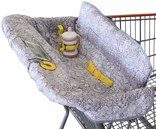 Check Out This Shopping Cart Cover for Baby or Toddler | 2-in-1 High Chair Cover | Compact Universal...