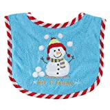 Luvable Friends Christmas Drooler Bib, Snow