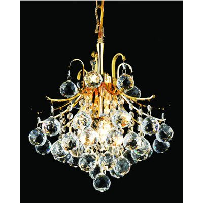 Elegant Lighting Toureg 15-Inch High 3-Light Chandelier