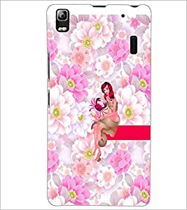 PrintDhaba Sweet Girl D-2962 Back Case Cover for LENOVO A7000 (Multi-Coloured)