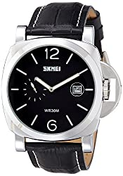Skmei Analog White Dial Mens Watch - 1124BBW