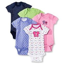 Gerber Baby Girls' 4 Pack Onesie set - Butterfly (9 Months)