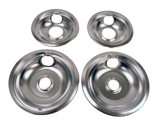 Whirlpool W10278125 Drip Pan Kit, Chrome (Oven Range Parts compare prices)