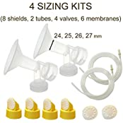 Breastshield Sizing Kit - Medium; One-Piece Breastshield W/ Valve, Membrane For Medela Breast Pumps (Pump In Style...