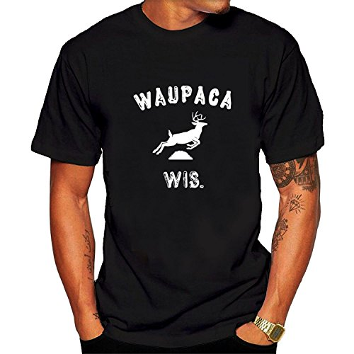 Men's WAUPACA WIS.-DUSTIN'S Stranger Things Tee shirts L Black (Free Books Wis compare prices)