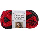 Coats Yarn Red Heart Boutique Sashay Team Spirit Yarn, Red/Black