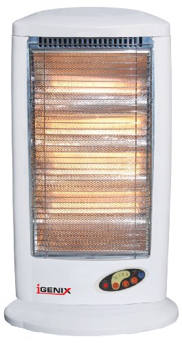 IGENIX IG0165NP 1600W HALOGEN HEATER WITH REMOTE AND TIMER