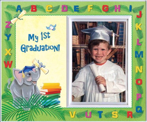 My First Graduation - Elephants Back to School Picture Frame Gift