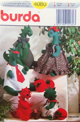 Burda 4080 Dinosaur Dolls And Clothes Sewing Pattern, Out Of Print front-622293