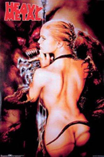 Heavy Metal Embrace Luis Royo Akt Erotik Poster nackte Girls schöne Frauen 61x91,5 cm