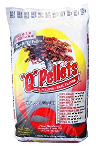 """Q"" Pellets 100% Hickory BBQ Grilling and Smoking Pellets 30 lb. Bag"
