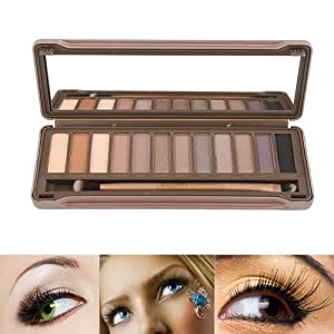 Aitao 12 Colors Nude Eyeshadow Palette With Iron Box Of High Quality