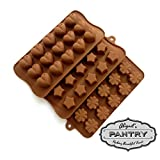 Chocolate & Candy Molds - Set of 3 - Classic Edition (Strong Silicone) - Abigails Pantry Confectionary Supplies
