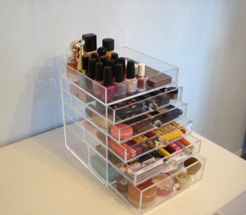 Acrylic makeup drawers