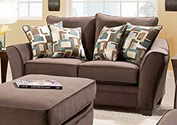Chelsea Home Furniture Cupertino Loveseat, Flannel Espresso