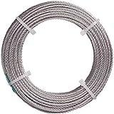 TRUSCO ステンレスワイヤロープ ナイロン被覆 Φ1.0(1.5)X20m CWC1S20