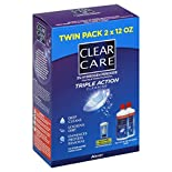 Clear Care Cleaning & Disinfecting Solution, Triple Action Cleaning, Twin Pack, 2 - 12 fl oz (355 ml) bottles