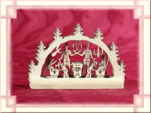 Schwibbogen Bergmann 2D Miniatur als Weihnachtsdekoration Original Erzgebirge aus eigener Herstellung