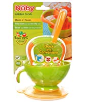 Nuby Garden Fresh Mash 'N' Feed 4 Piece Baby Preparation & Feeding System from Nuby