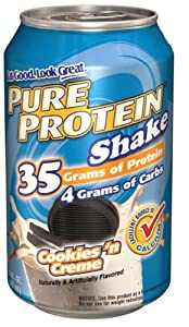 Pure Protein Ready to Drink Shake 35 Grams Protein, Cookies 'n Creme (Pack of 12)