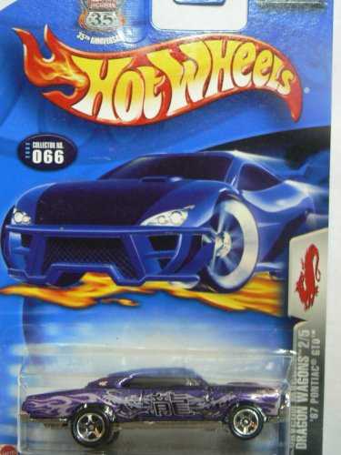 Hot Wheels 2003 Dragon Wagons '67 Pontiac GTO Purple #066 2/5