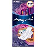 Always Radiant Infinity Overnight With Wings Scented Pads 24 Count