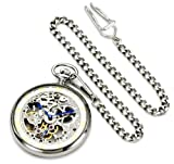Stührling Original 618.PK12 Special Reserve Collection Montres De Poche Marseille Mechanical Skeletonized Pocket Watch