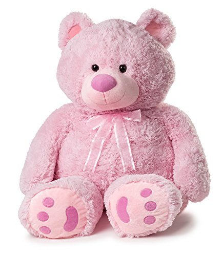 Huge Teddy Bear - Pink (Giant Teddy Bear 3 Feet compare prices)