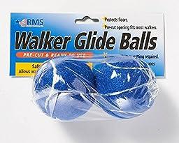 RMS Walker Glide Balls 6 Color Choices (Blue)