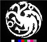 "Game of Thrones House Targaryen Sigil Vinyl Sticker Decal HBO Logo Car Truck Mac (5.5"" inch)"