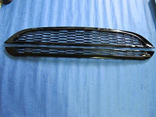 Kühlergrillabdeckung für 01-06Mini Cooper S R50R52R53, Schwarz glänzend, Gitter