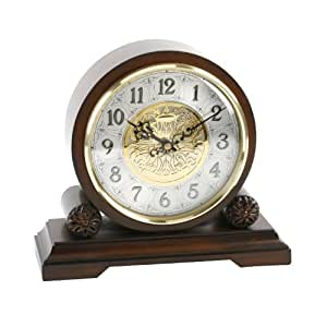 Watching clocks pendule de chemin e en noyer avec for Pendule de cuisine amazon